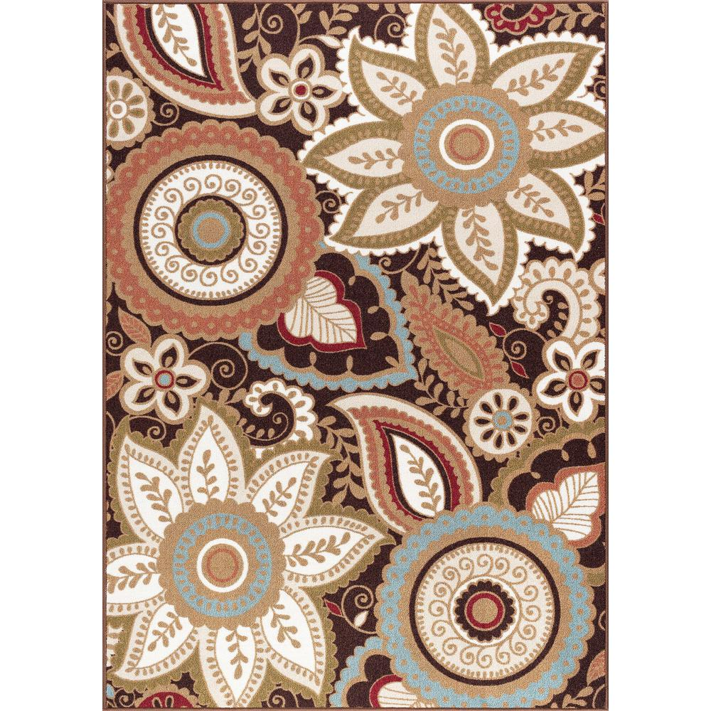 Tayse Rugs Majesty Brown 8 Ft X 10 Ft Area Rug Mjs1308