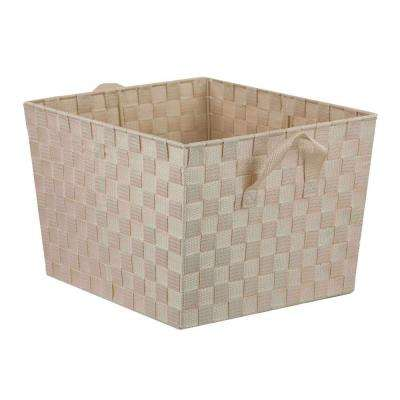 13 in. x 10 in. Ivory Non Stackable Bin