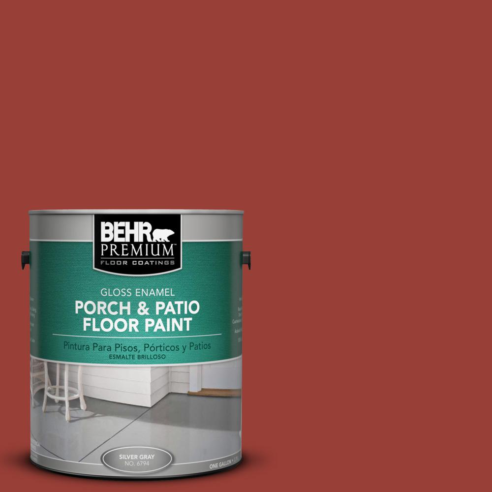 S H 190 Antique Red Gloss Porch And Patio Floor