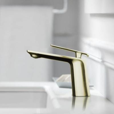 Single Hole Single-Handle Bathroom Faucet in Satin Brass