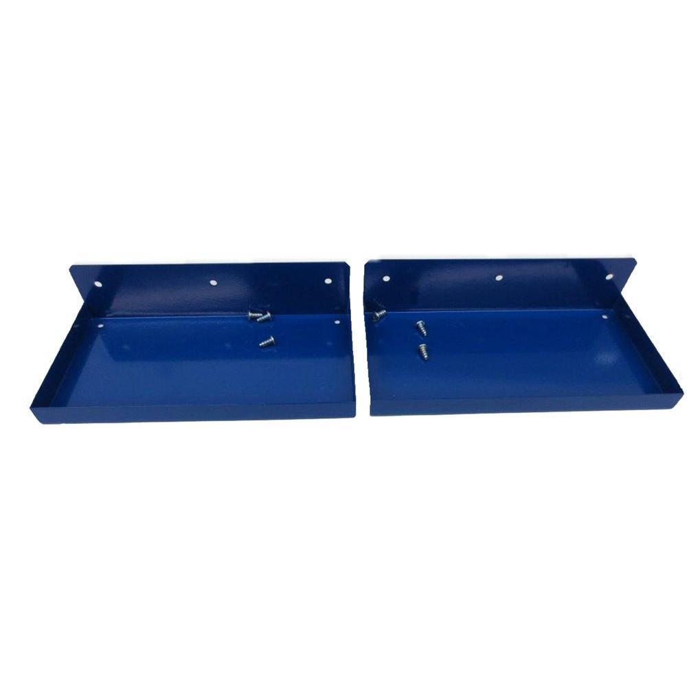 DuraHook 12 in. W x 6 in. Deep Blue Epoxy Coated Steel Shelf for DuraBoard