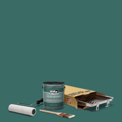 1 gal. #M450-7 Beta Fish Extra Durable Semi-Gloss Enamel Interior Paint and 5-Piece Wooster Set All-in-One Project Kit