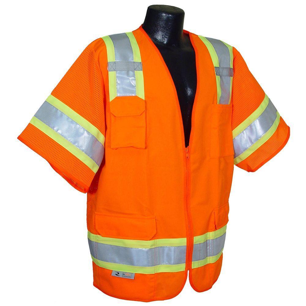 Class 3 Extra Large Orange 2-Tone Surveyor Safety Vest