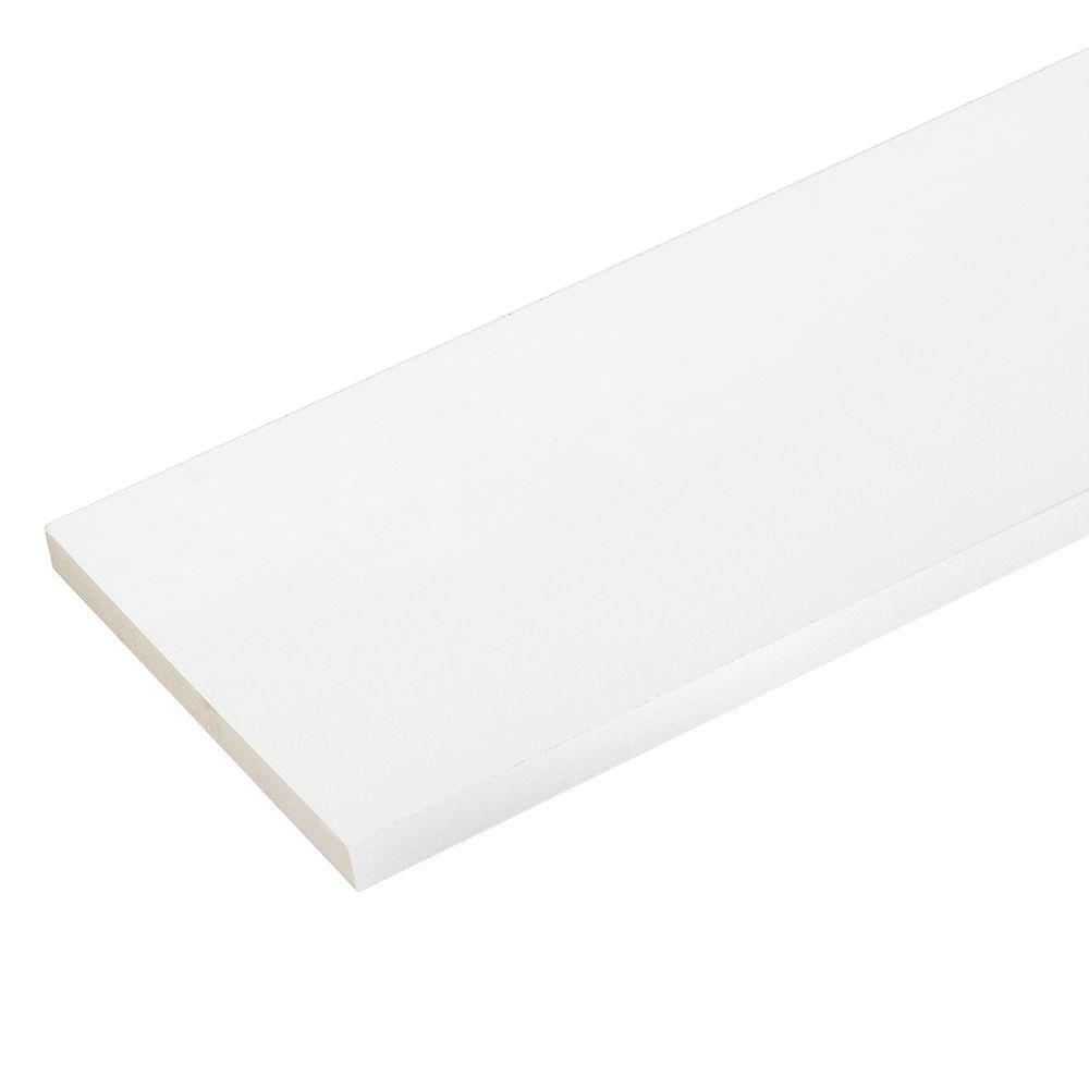 3/4 in. x 9-1/4 in. x 8 ft. White PVC Trim (3-Pack)