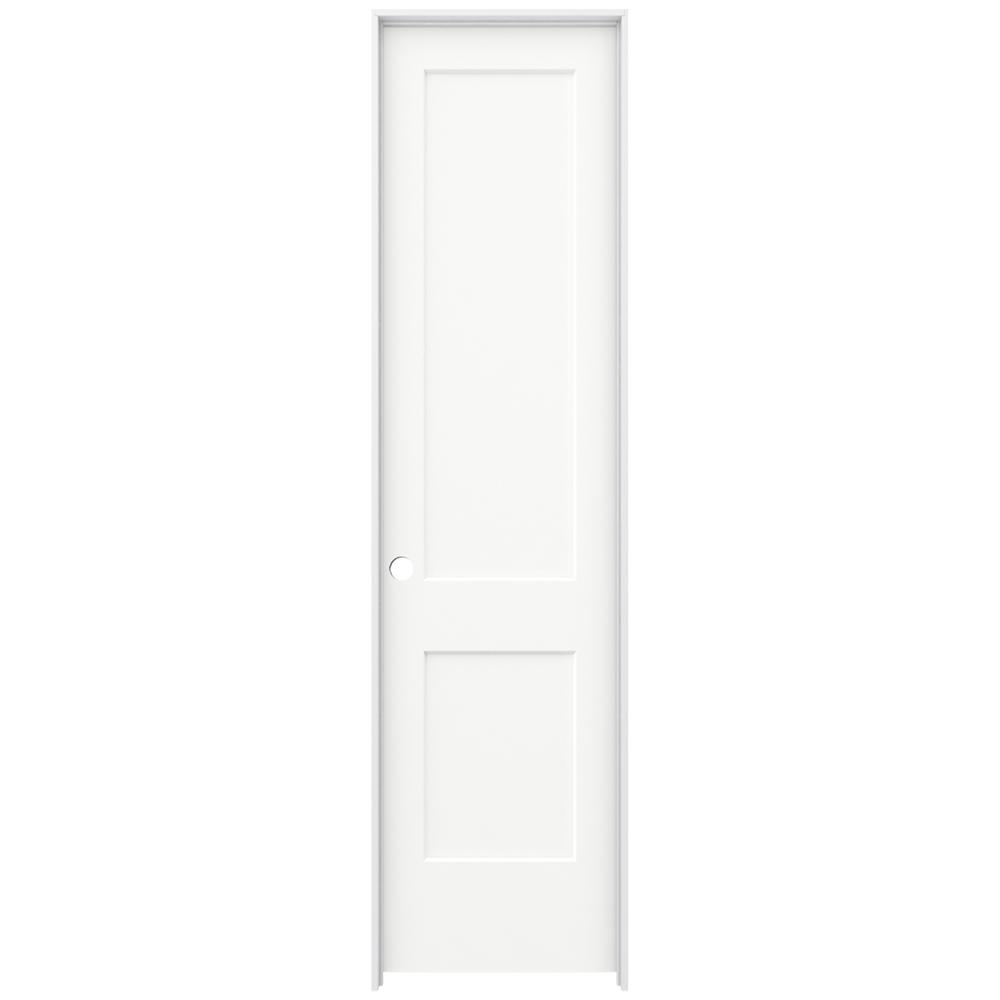 24 in. x 96 in. Monroe White Painted Right-Hand Smooth Solid