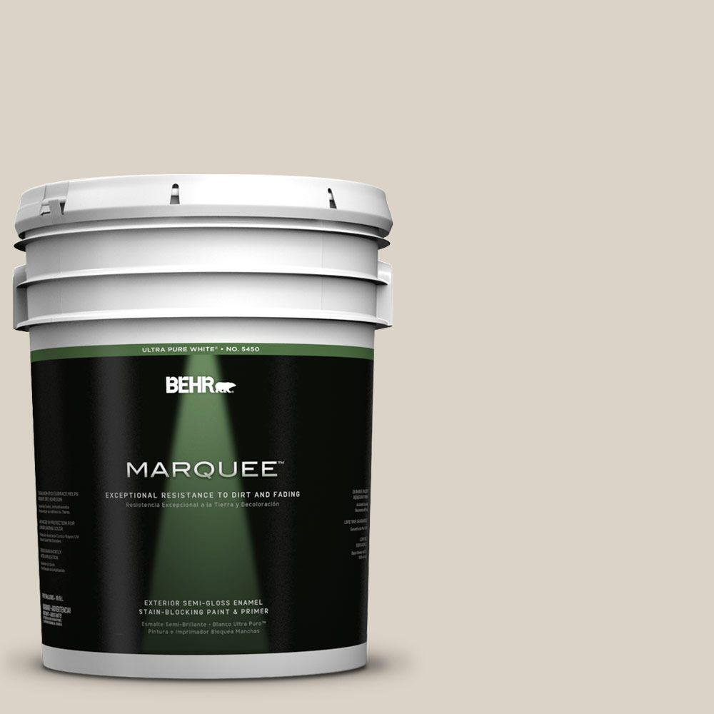 BEHR MARQUEE 5-gal. #730C-2 Sandstone Cove Semi-Gloss Enamel Exterior Paint
