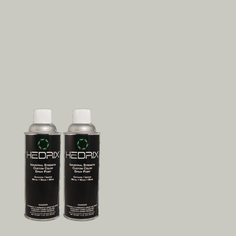 Hedrix 11 oz. Match of 3B53-2 Darwin Gray Flat Custom Spray Paint (2-Pack)