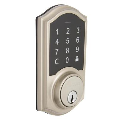 Castle Satin Nickel Electronic Single Cylinder Touchpad Deadbolt