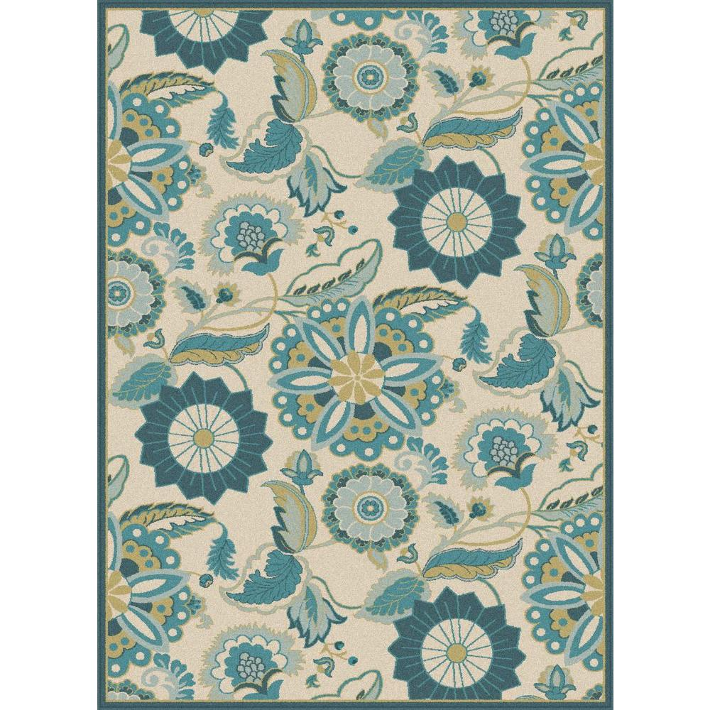 Tayse Rugs Olympia Aqua 7 Ft 8 In X 10 Ft 3 In Area