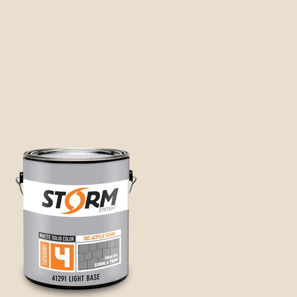 Storm System Category 4 1 gal. Seashell Matte Exterior Wood Siding 100% Acrylic Latex Stain