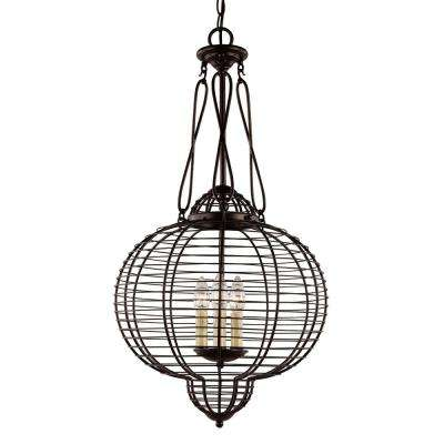 3-Light Black Interior Pendant