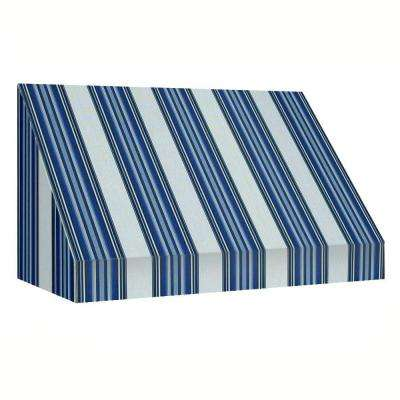 25 ft. New Yorker Window/Entry Awning (56 in. H x 48 in. D) in Navy/White Stripe