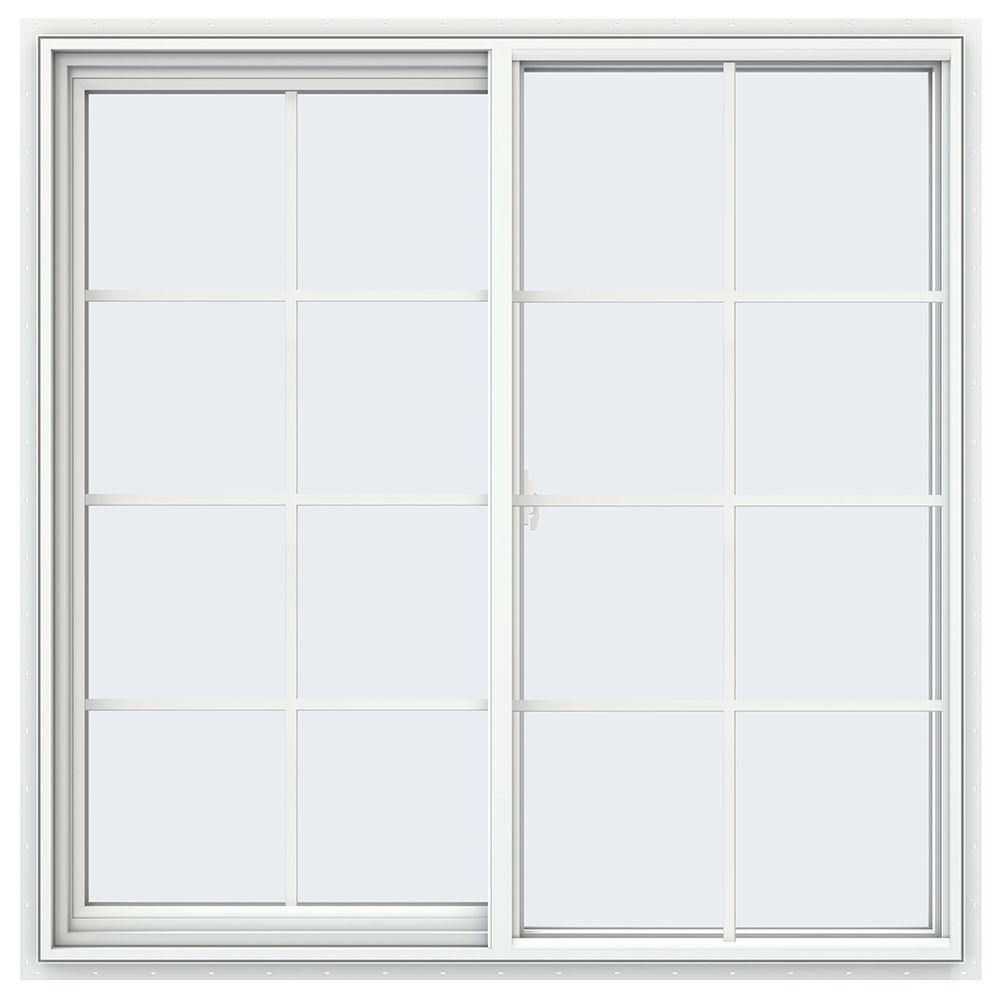 47.5 in. x 47.5 in. V-2500 Series Left-Hand Sliding Vinyl Window