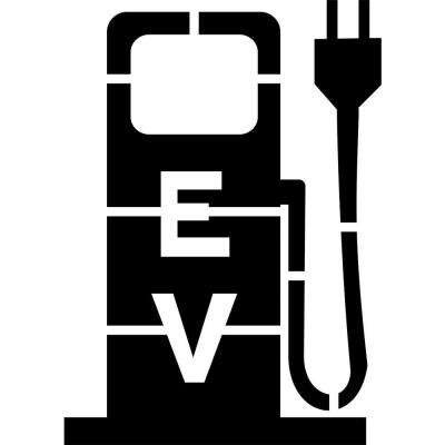 wide electric vehicle charging station pump stencil