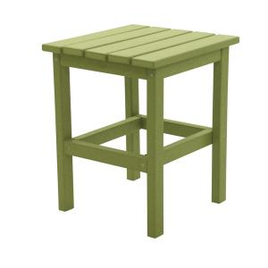 Icon Lime Square Plastic Outdoor Side Table
