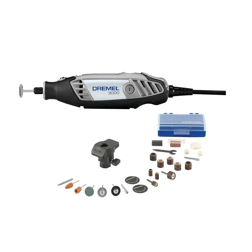 Dremel 3000 Series 12 Amp Variable Speed Corded Rotary Tool Kit With 24 Accessories 1