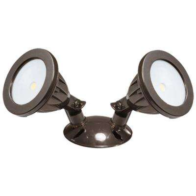 105° Bronze Double Head LED Outdoor Flood Light