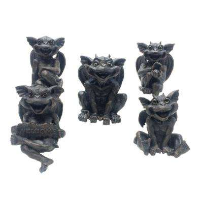 6 in. Gargoyle Shelf Sitter Gargiggle Family Assortment (5-Pack)