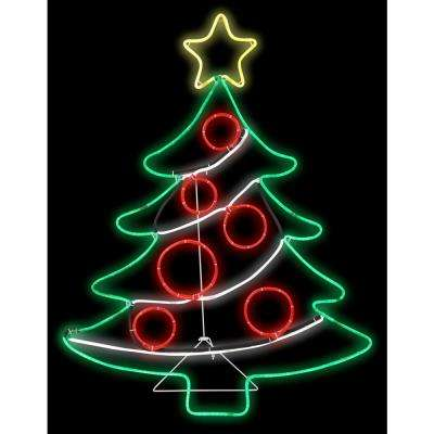2 ft. W x 3 ft. H Light Glo Christmas Tree w/Star
