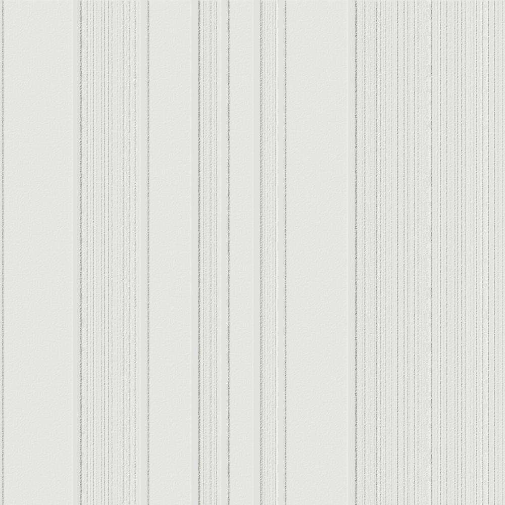 Graham & Brown White Beadboard Paintable Wallpaper-15274