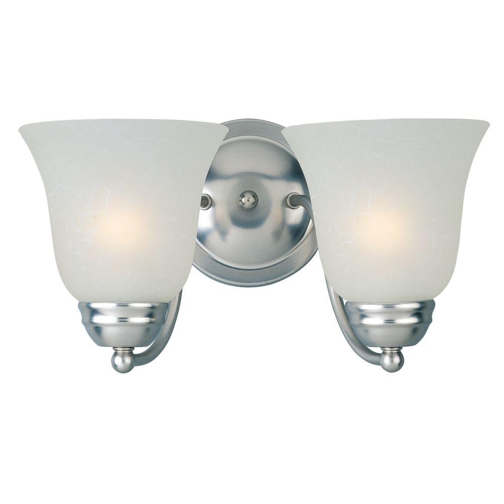Basix EE 2-Light Satin Nickel Bath Vanity Light