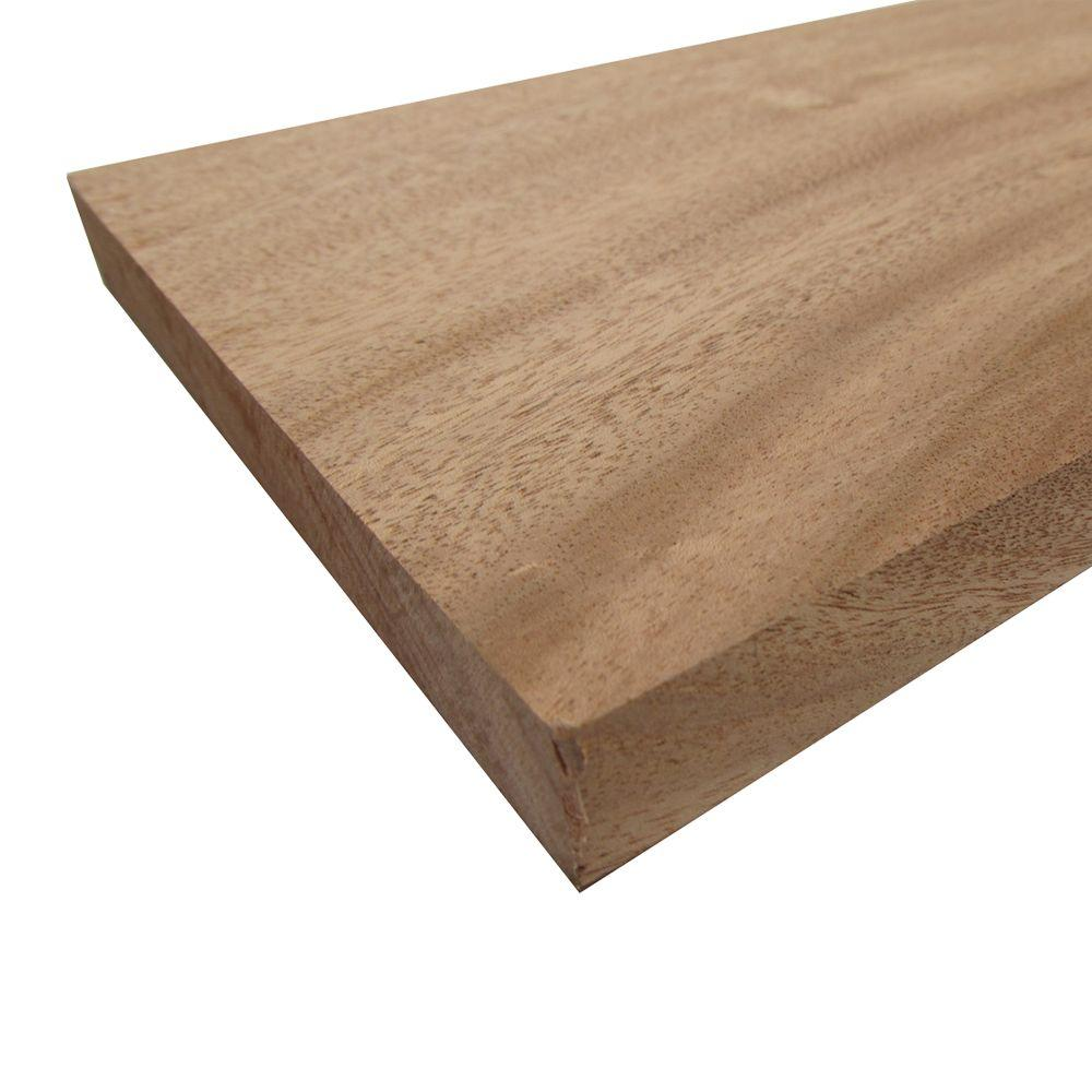 Mahogany Board (Common: 3/4 in. x 1-1/2 in. x R/L; Actual: