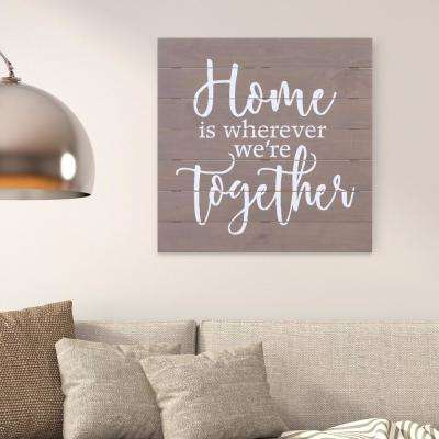 Home Together Planked Wooden Wall Art