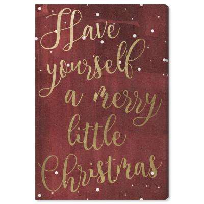 """Have Yourself A Merry Christmas"" by Oliver Gal Canvas Wall Art"