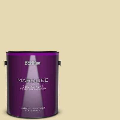 1 gal. #MQ3-42 Honey Mist One-Coat Hide Ceiling Flat Interior Paint and Primer in One