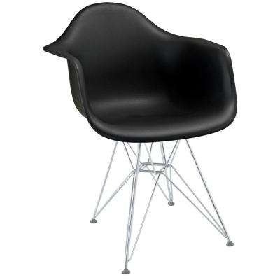 Paris Black Dining Arm Chair
