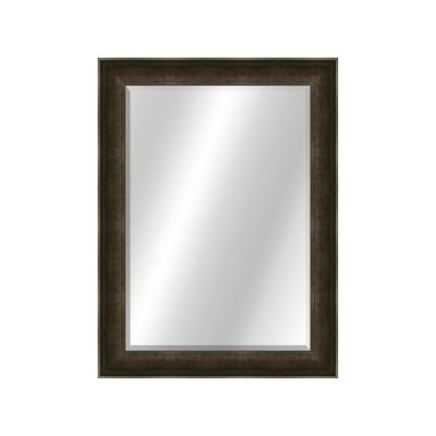 Traditional 22 x 28 Slate Charcoal Framed Vanity Mirror