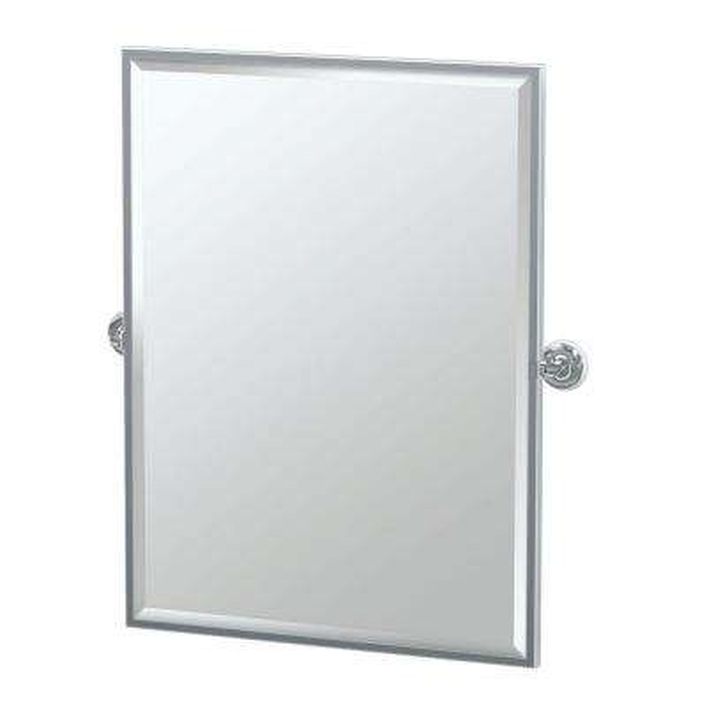 Designer II 29 in. x 33 in. Framed Single Large Rectangle Mirror in Chrome