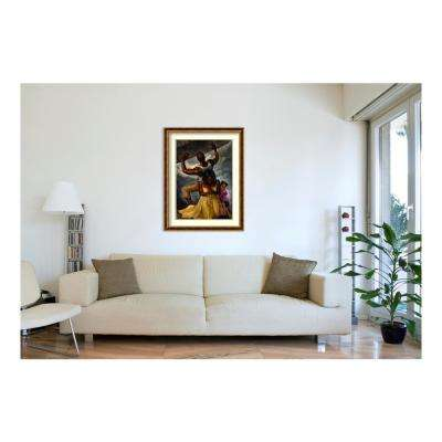 34 in. W x 44 in. H 'Behind Every Great Man' by WAK-Kevin A. Williams Framed Printed Wall Art