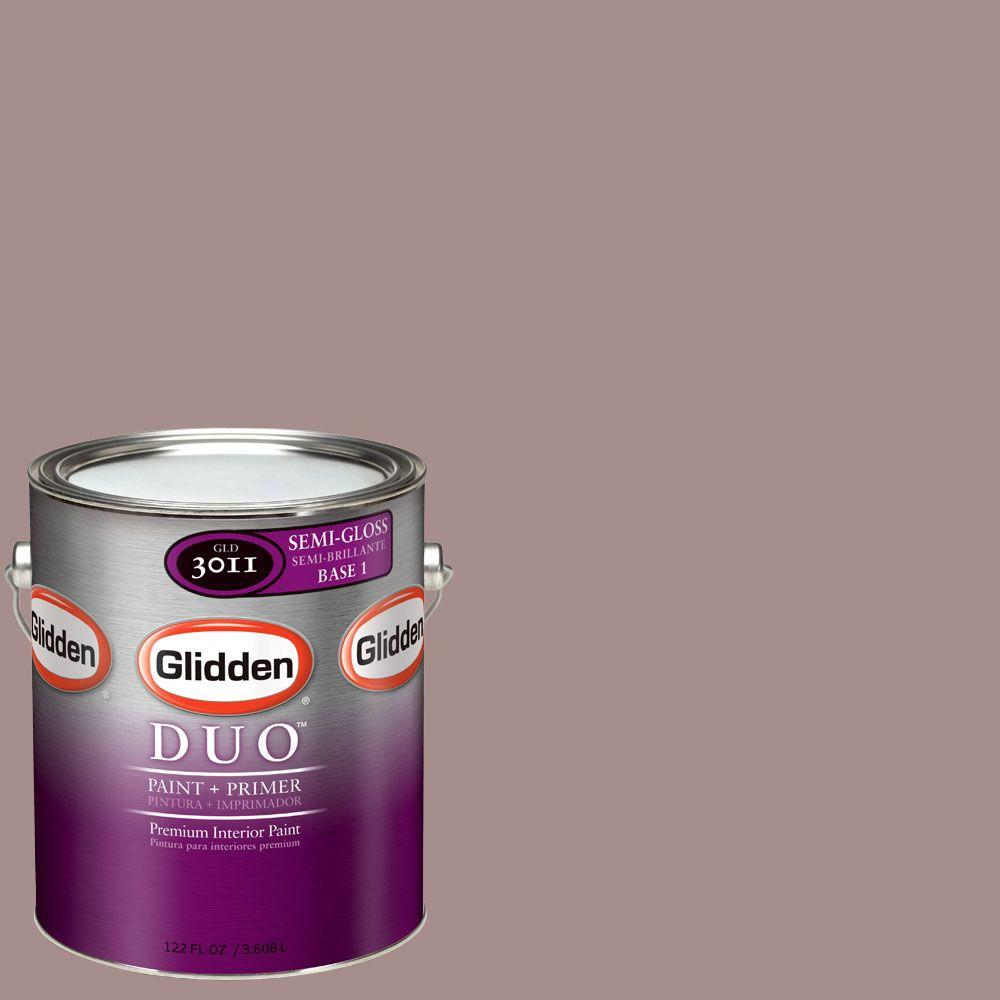 Glidden DUO Martha Stewart Living 1-gal. #MSL173-01S Heathered Moor Semi-Gloss Interior Paint with Primer-DISCONTINUED