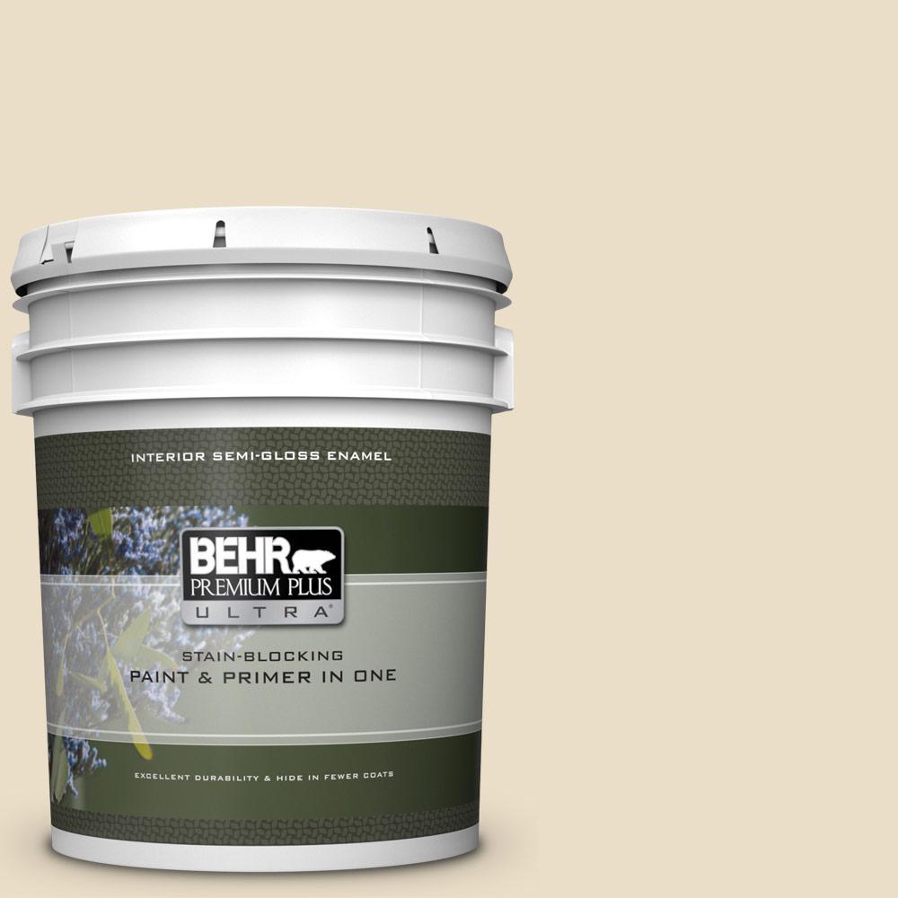 BEHR Premium Plus Ultra 5 gal  #W-F-100 Belgian Cream Semi