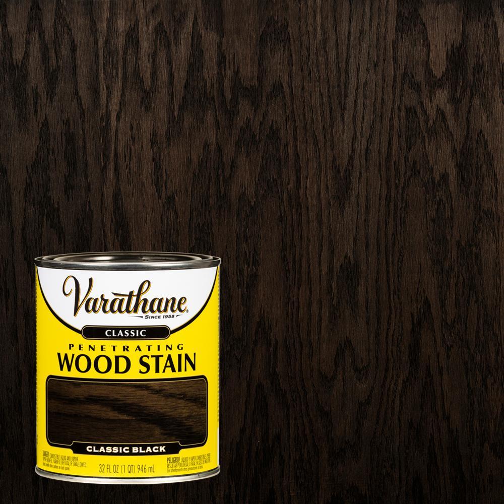 1 qt. Black Classic Wood Interior Stain
