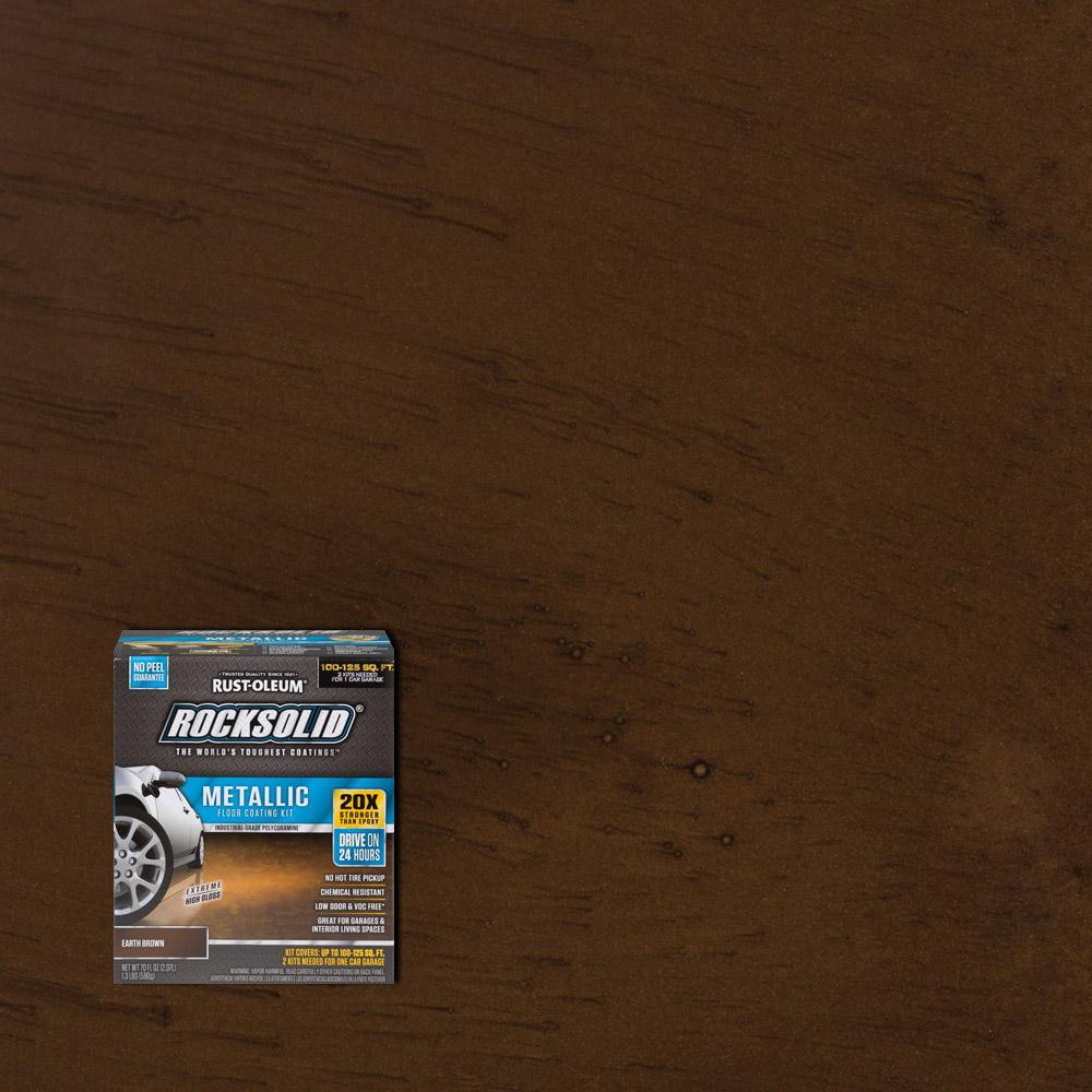 Metallic Earth Brown Garage Floor Kit Case Of 2 286895 The Home Depot