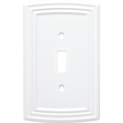 White 1-Gang Toggle Wall Plate (1-Pack)