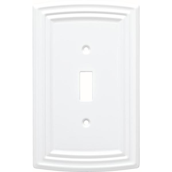 Liberty White 1 Gang Toggle Wall Plate 1 Pack W36396 Pw C The Home Depot