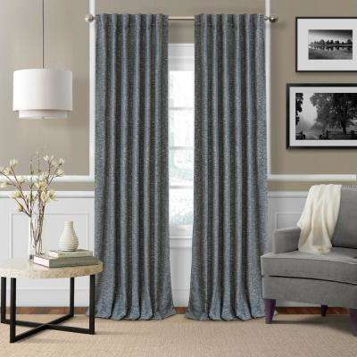 Elrene Colton 3 in 1 Single Blackout Window Panel 52 in. W x 84 in. L, Navy