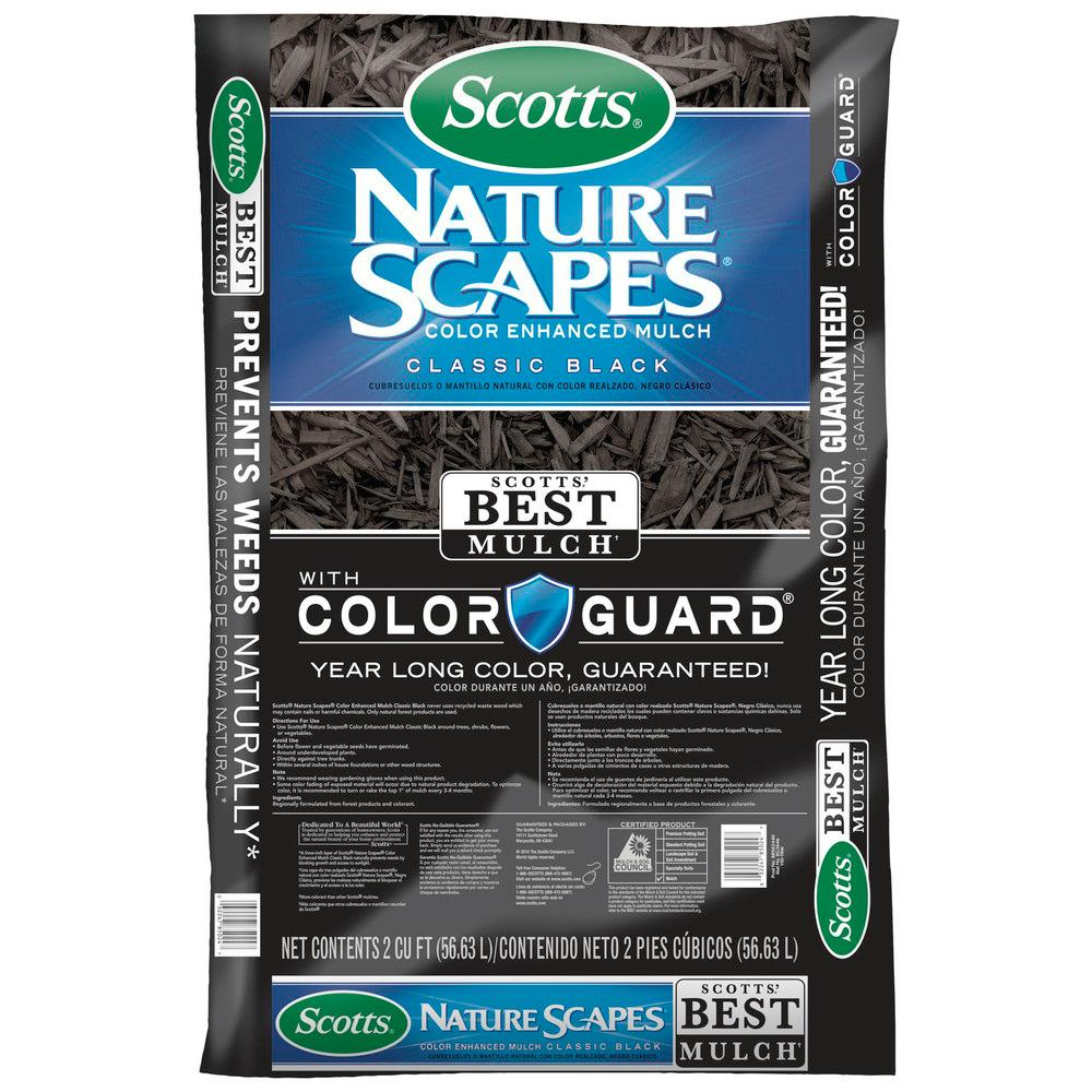 Scotts Naturescapes 2 Cu Ft Classic Black Color Enhanced Mulch