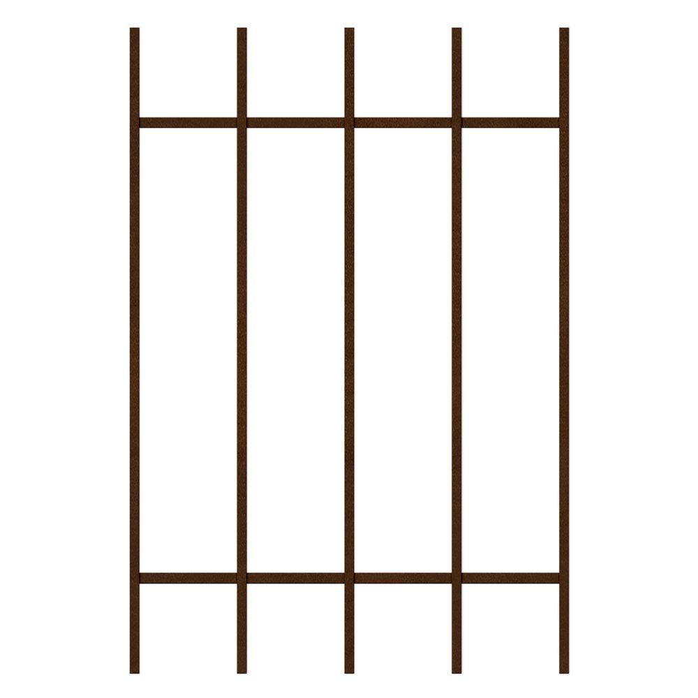 Unique Home Designs Guardian 24 in. x 36 in. Copper 5-Bar Window Guard-DISCONTINUED