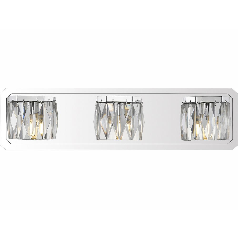 Golden Lighting Krysta 3-Light Chrome Bath Light