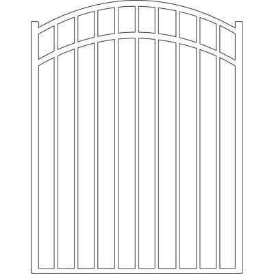 Natural Reflections Standard-Duty 4 ft. W x 4.5 ft. H White Aluminum Arched Pre-Assembled Fence Gate