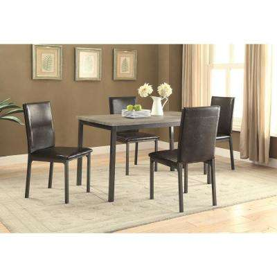 Garza Group Black Leatherette Dining Chair (Set of 2)