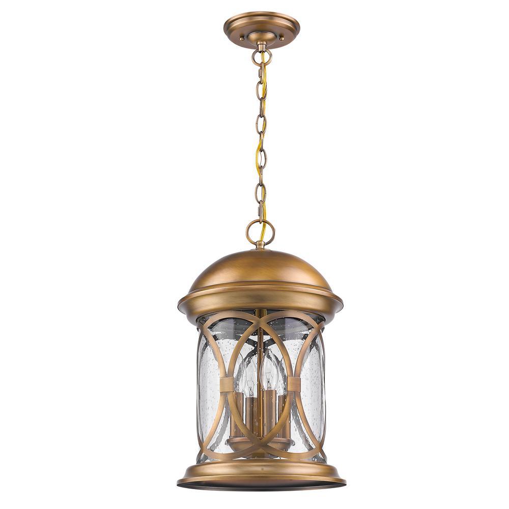 Acclaim Lighting Lincoln 4-Light Antique Brass Hanging Lantern ...