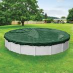 Supreme 24 ft. Round Green Solid Above Ground Winter Pool Cover