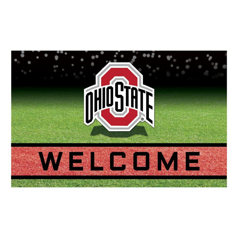 Ohio State University 18 in. x 30 in. Rubber Door Mat