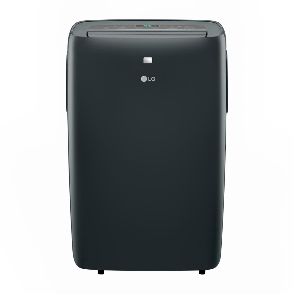 LG 12,000 BTU (7,500 BTU, DOE) 115-Volt Portable Air Conditioner with Dehumidifier Function and LCD Remote in Gray