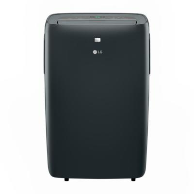 12,000 BTU (7,500 BTU, DOE) 115-Volt Portable Air Conditioner with Dehumidifier Function and LCD Remote in Gray